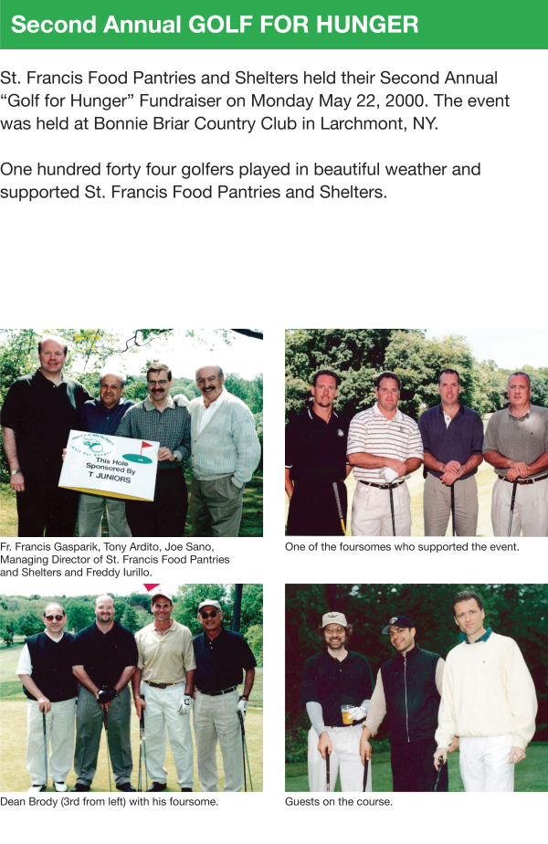 Fundraising - Golf for Hunger & Pool Party 2000